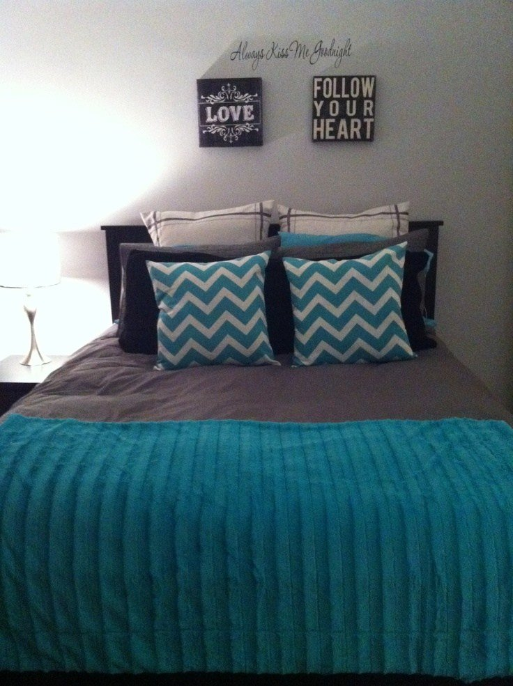 Best 73 Best Neutral Bedroom With Pop Of Color Turquoise Teal With Pictures