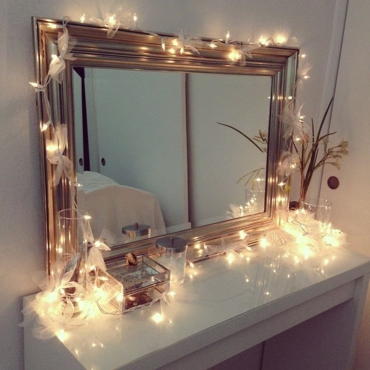 Best Vanity Table With Lights Around Mirror Home Design With Pictures