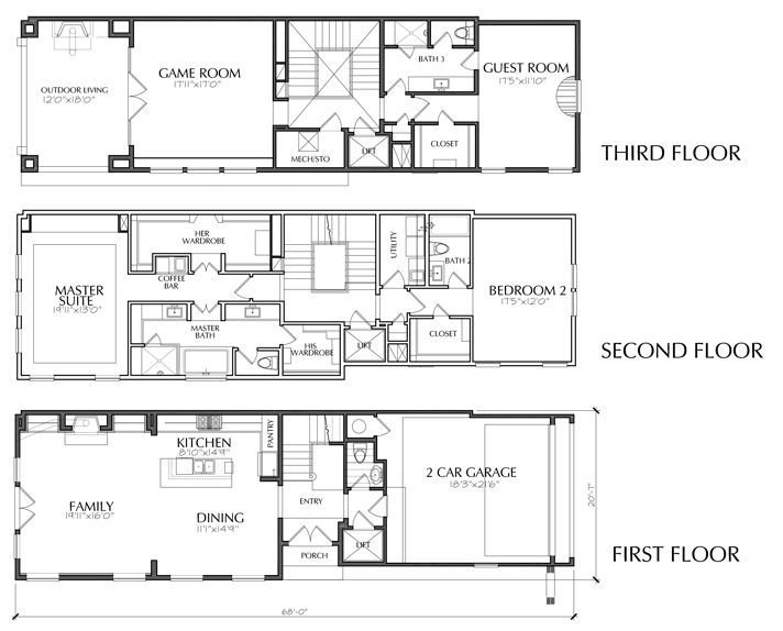 Best Dallas Townhouse Floor Plans For Sale Apartments In 2019 With Pictures