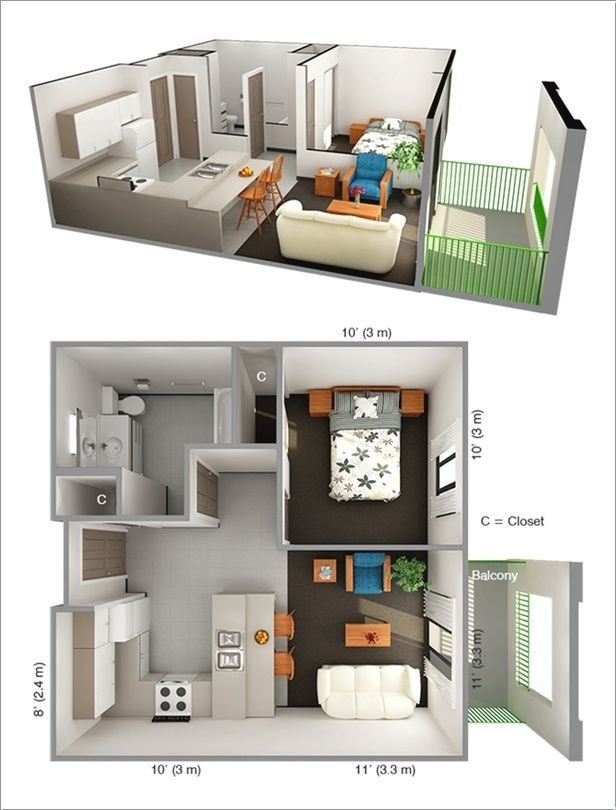 Best 25 One Bedroom Apartments Ideas On Pinterest One With Pictures