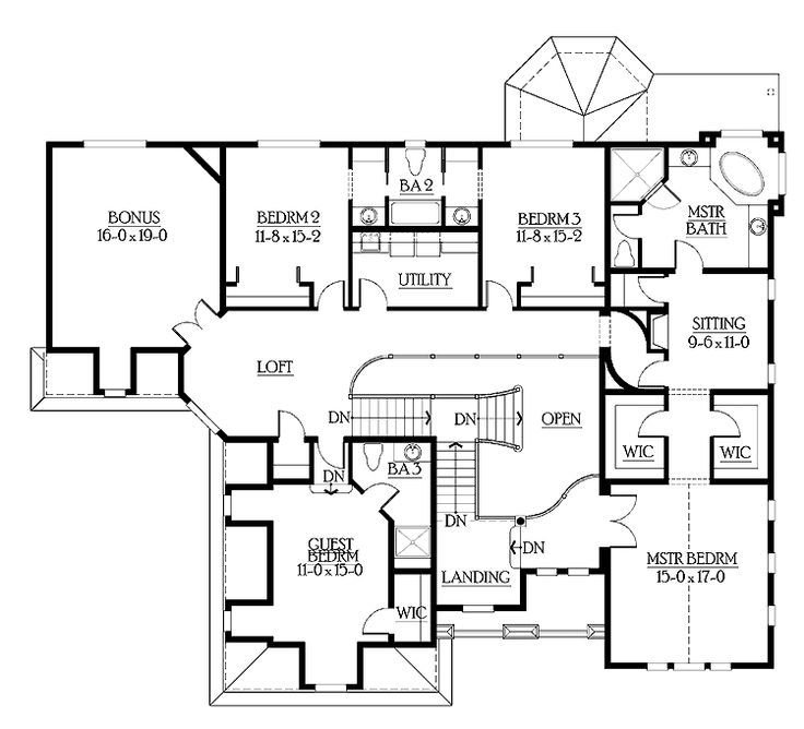 Best Floor Plans Aflfpw03630 2 Story Craftsman Home With 6 With Pictures