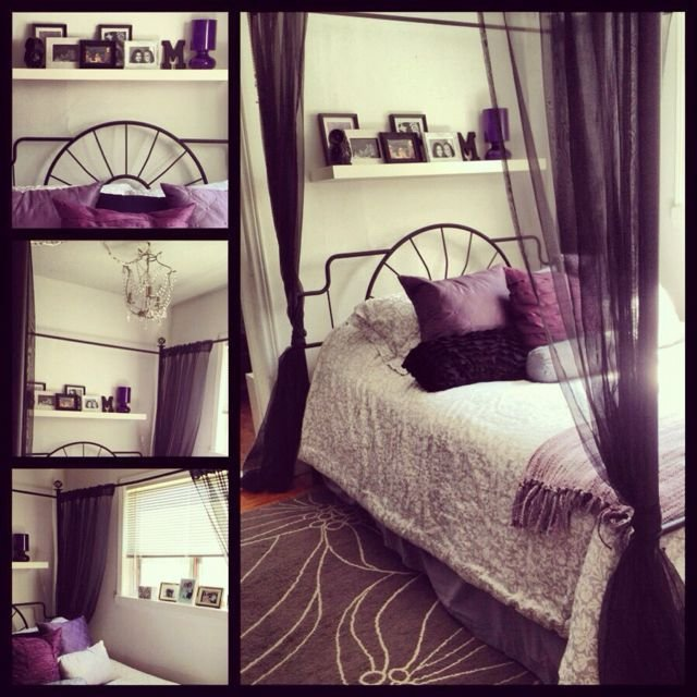 Best 25 Purple Black Bedroom Ideas On Pinterest Painting White Bedroom Furniture Black White With Pictures
