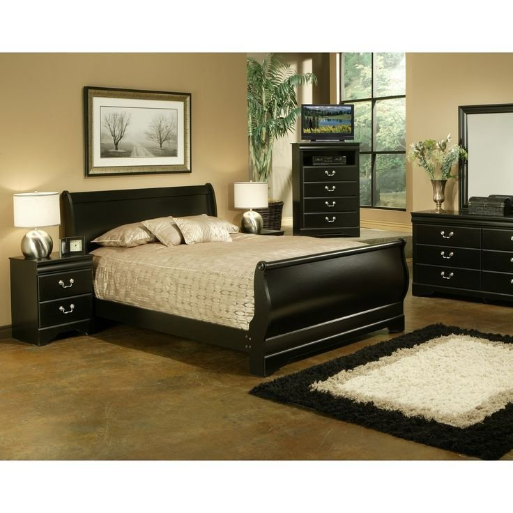 Best Traditional Black Louis Philippe Two Nightstand Bedroom With Pictures