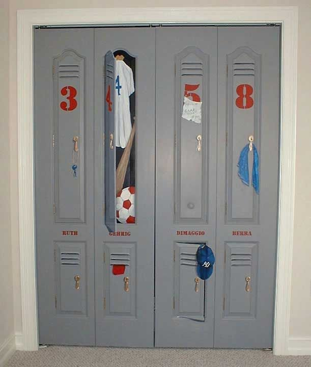 Best Locker Painted On Closet Door Calvin S Bedroom Kids With Pictures