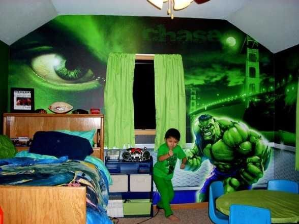 Best Incredible Hulk Bedroom For Avengers Bedding Theme Hulk With Pictures