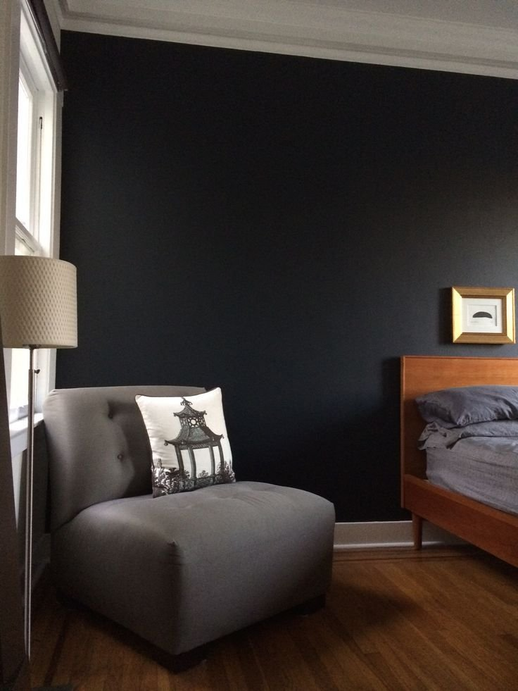 Best Bedroom Wall Painted In Farrow Ball Railings Wall With Pictures