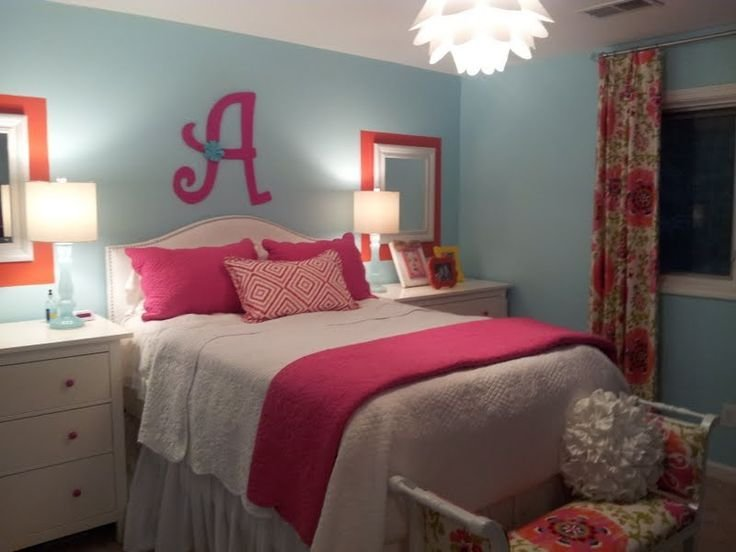Best T**N Girls Bedroom Orange Pink Blue Sources Dressers With Pictures