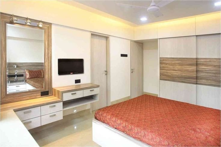 Best Master Bedroom With Mirror Design By Suneil Verma Interior Designer In Mumbai Maharashtra With Pictures