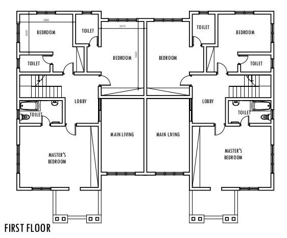 Best 4 Bedroom Semi Detached Duplex First Floor Plan Duplex With Pictures