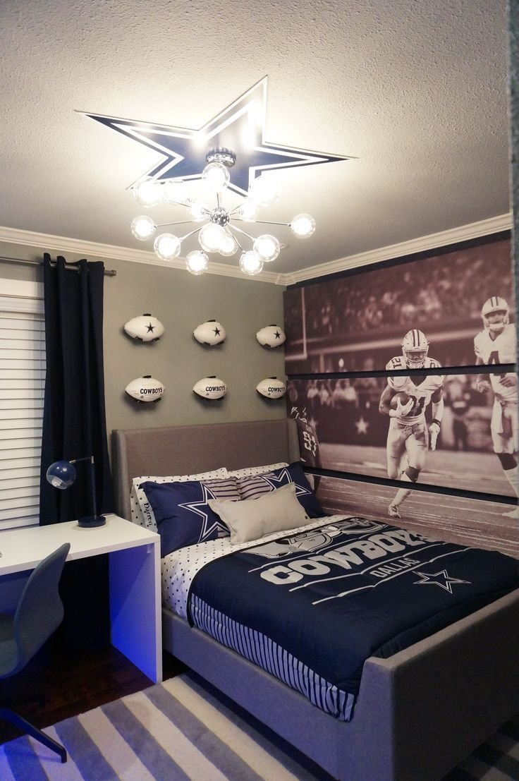 Best Pin By Alina Druga Interiors On Dallas Cowboys Bedroom With Pictures