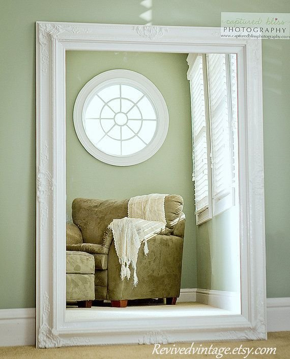 Best Large White Mirror For Sale 44 X32 Vintage Inspired Extra With Pictures
