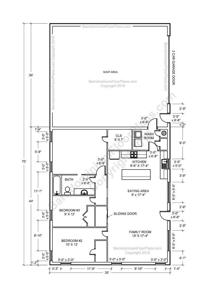 Best Barndominium Floor Plans 2 Story 4 Bedroom With Shop With Pictures