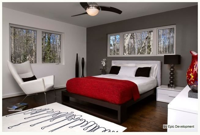 Best Gray Red Bedroom Master Bedroom I D Add Light Blue With Pictures