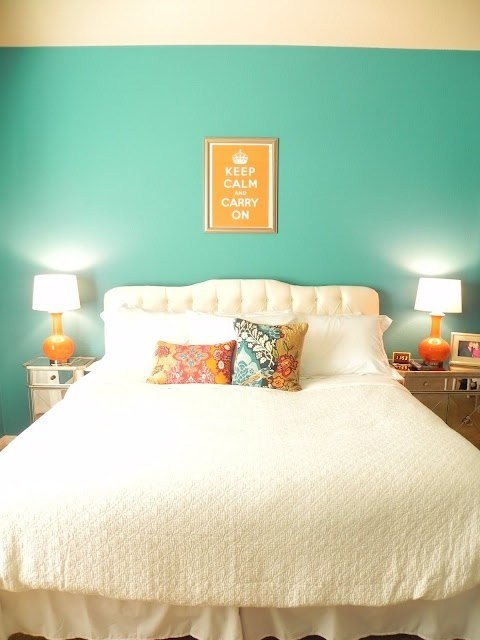 Best 7 Best Orange Teal Bedroom Decor Images On Pinterest With Pictures