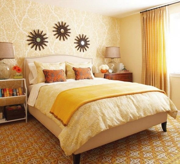 Best 183 Best Orange Coral Yellow Bedroom Images On Pinterest With Pictures