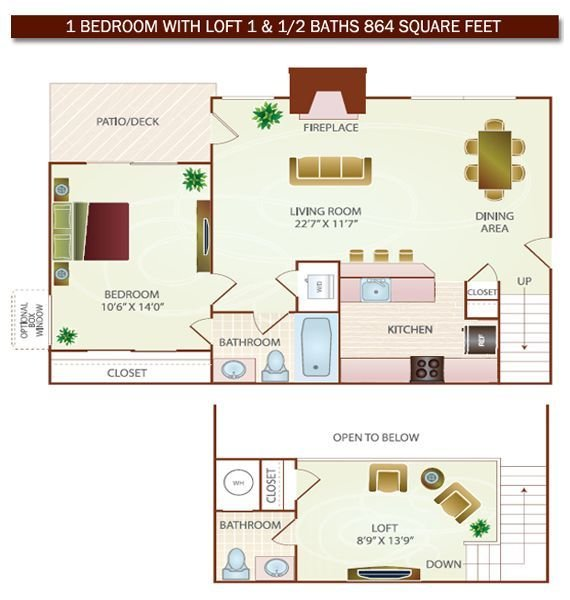 Best Small 2 Bed 1Bath With Loft Floor Plans Va In With Pictures