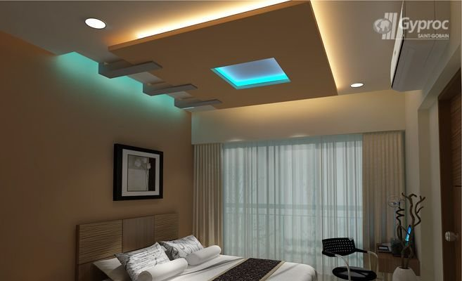 Best Bedroom Ceiling Designs False Ceiling Design Gallery – Saint Gobain Gyproc India Interior With Pictures