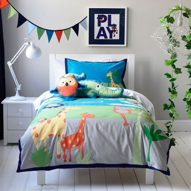 Best Adairs Kids Boys Jungle Safari Bedroom Quilt Covers With Pictures