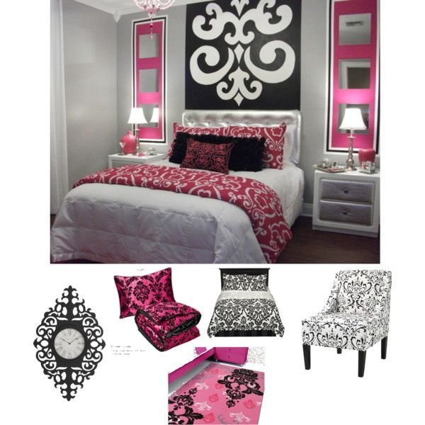 Best Pink Black White Damask Bedroom Damask Bedroom White With Pictures
