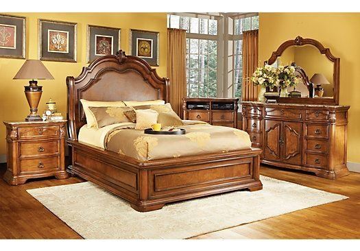 Best Rosabelle King Dark Pecan 5Pc Panel Bedroom New Master With Pictures