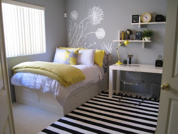 Best 45 Inspiring Small Bedrooms Interior Options Small With Pictures