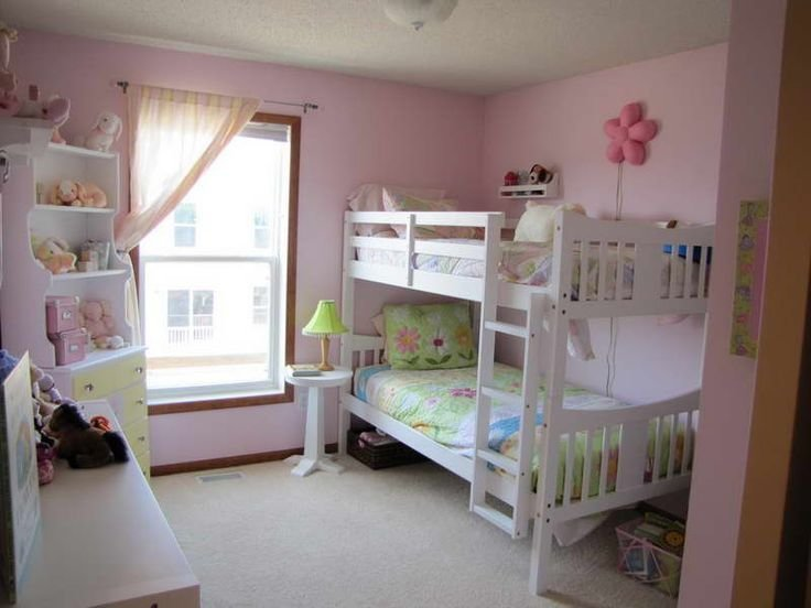 Best Girl Bunk Beds With Pink Walls Girly Bedroom Decor With Pictures