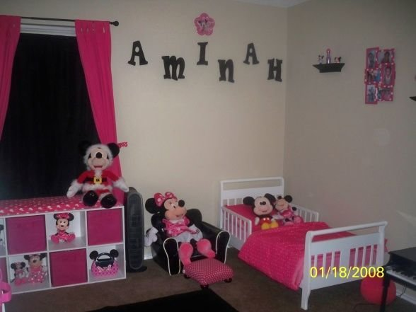 Best Minnie Mouse Bed Rooms Aminah S Minnie Mouse Room With Pictures