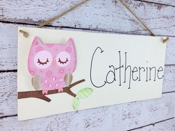 Best Personalized Sleeping Owl Kid S Door Sign By With Pictures
