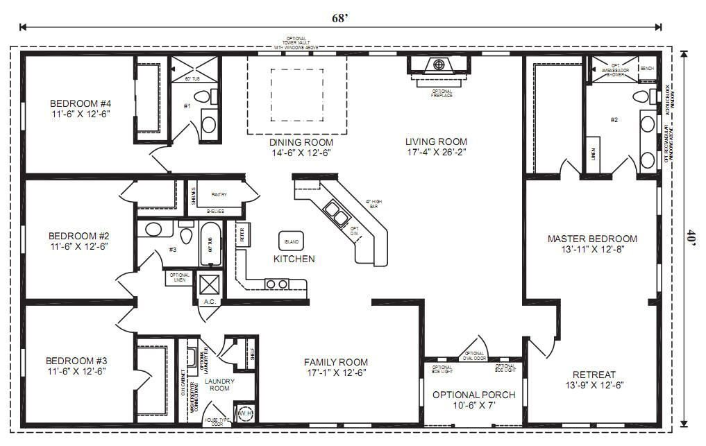 Best Pin By Break The Grey On House Plans Modular Home Floor Plans 4 Bedroom House Plans Basement With Pictures