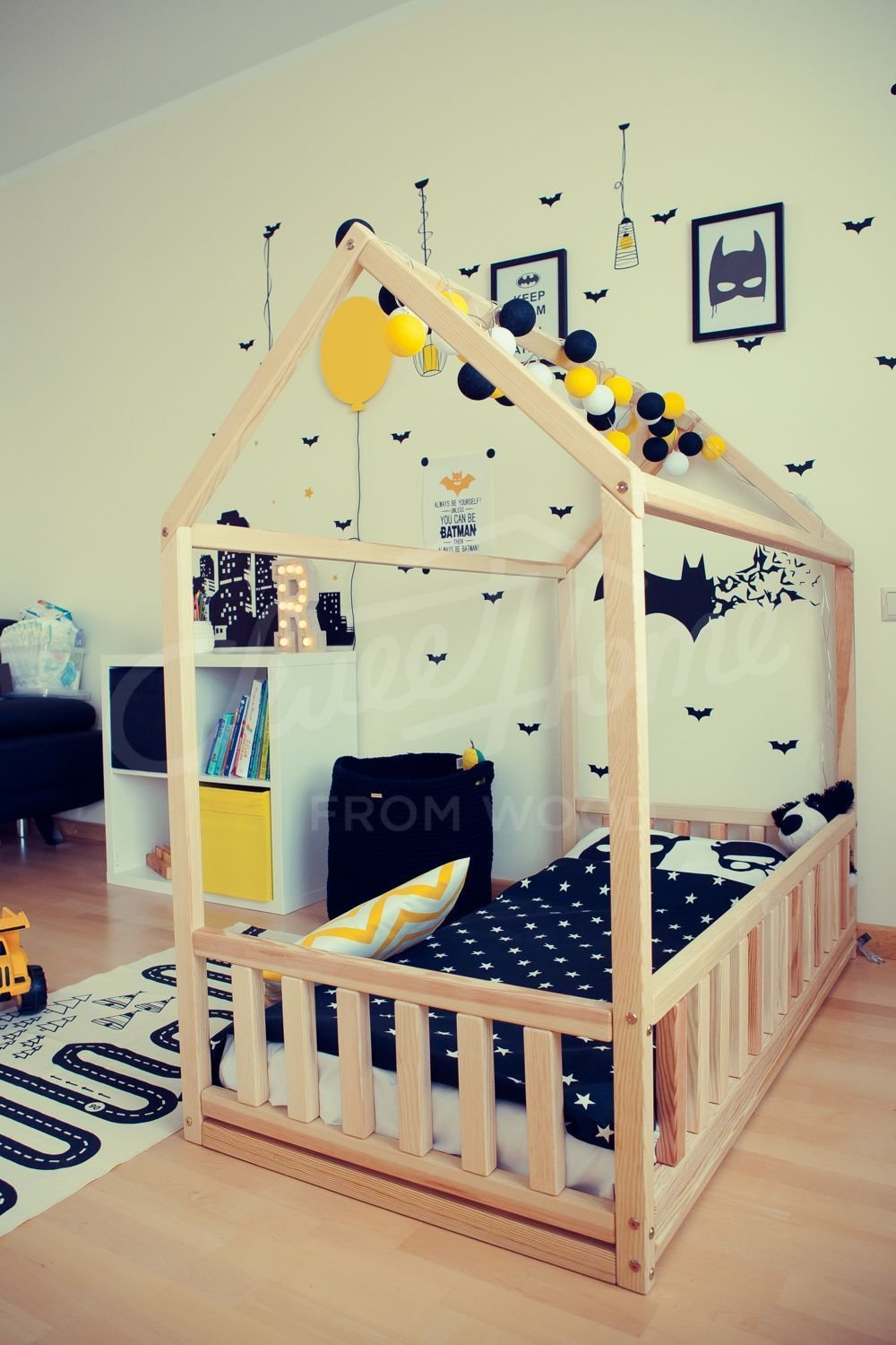 Best Kids Teepee Wood House Bed Toddler Bed House Montessori With Pictures