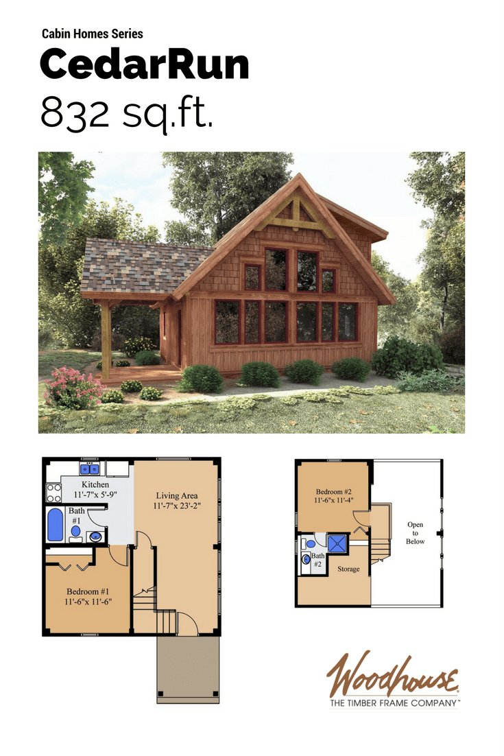 Best Cedarrun In 2019 Small House Cabin Plans With Loft With Pictures