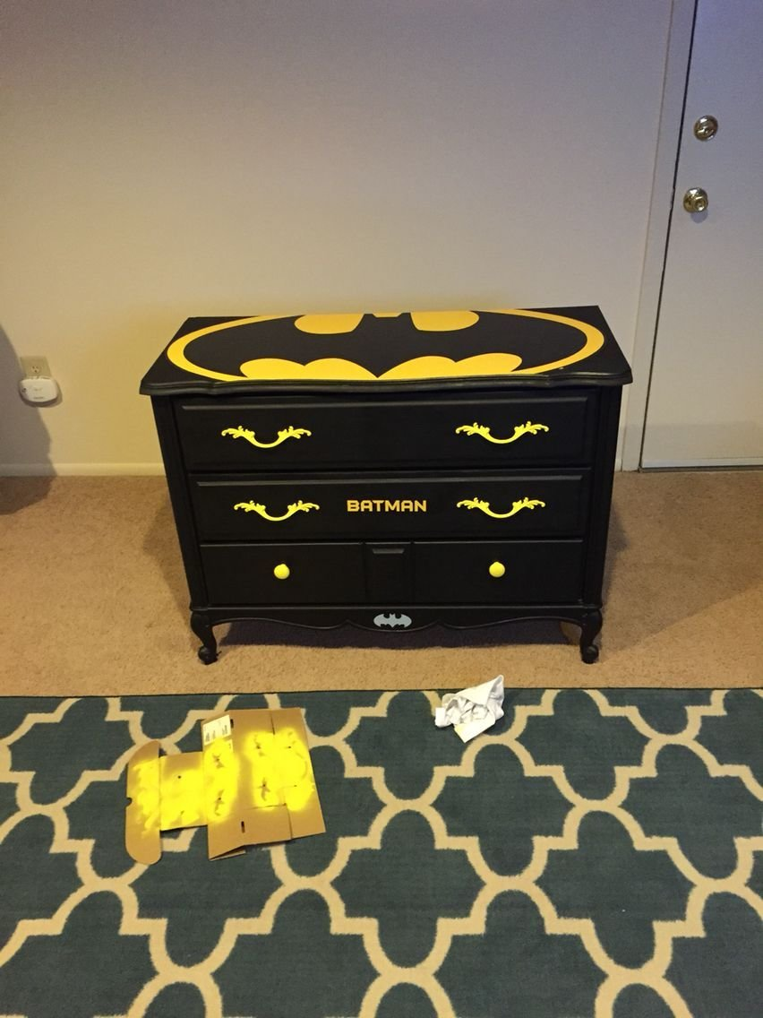 Best Old Dresser I Made Into Kids Batman Dresser First Diy With Pictures