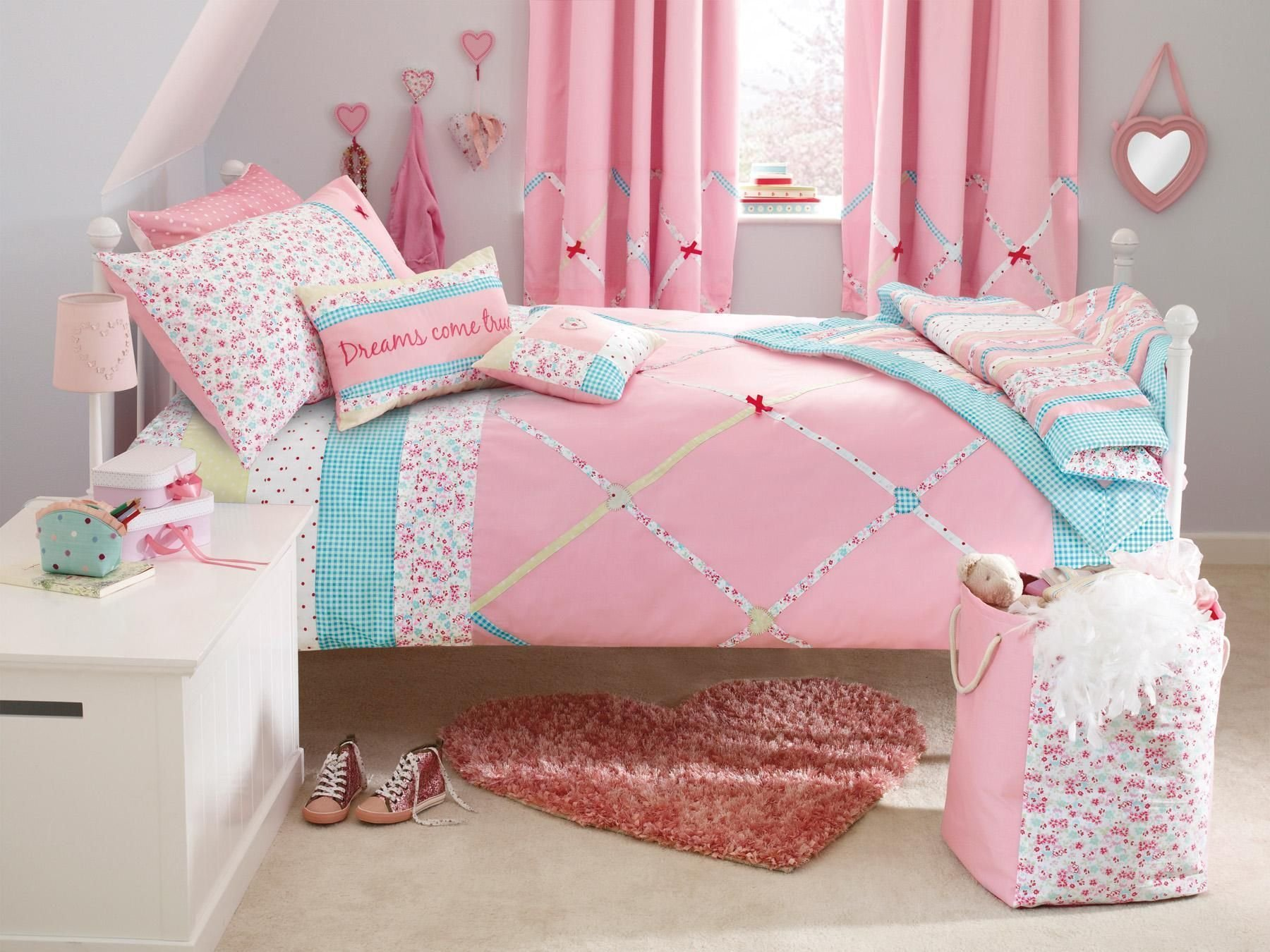 Best Bedding To Coordinate With Evie S Curtains Toddler Girls Room Childrens Cushions Kids With Pictures