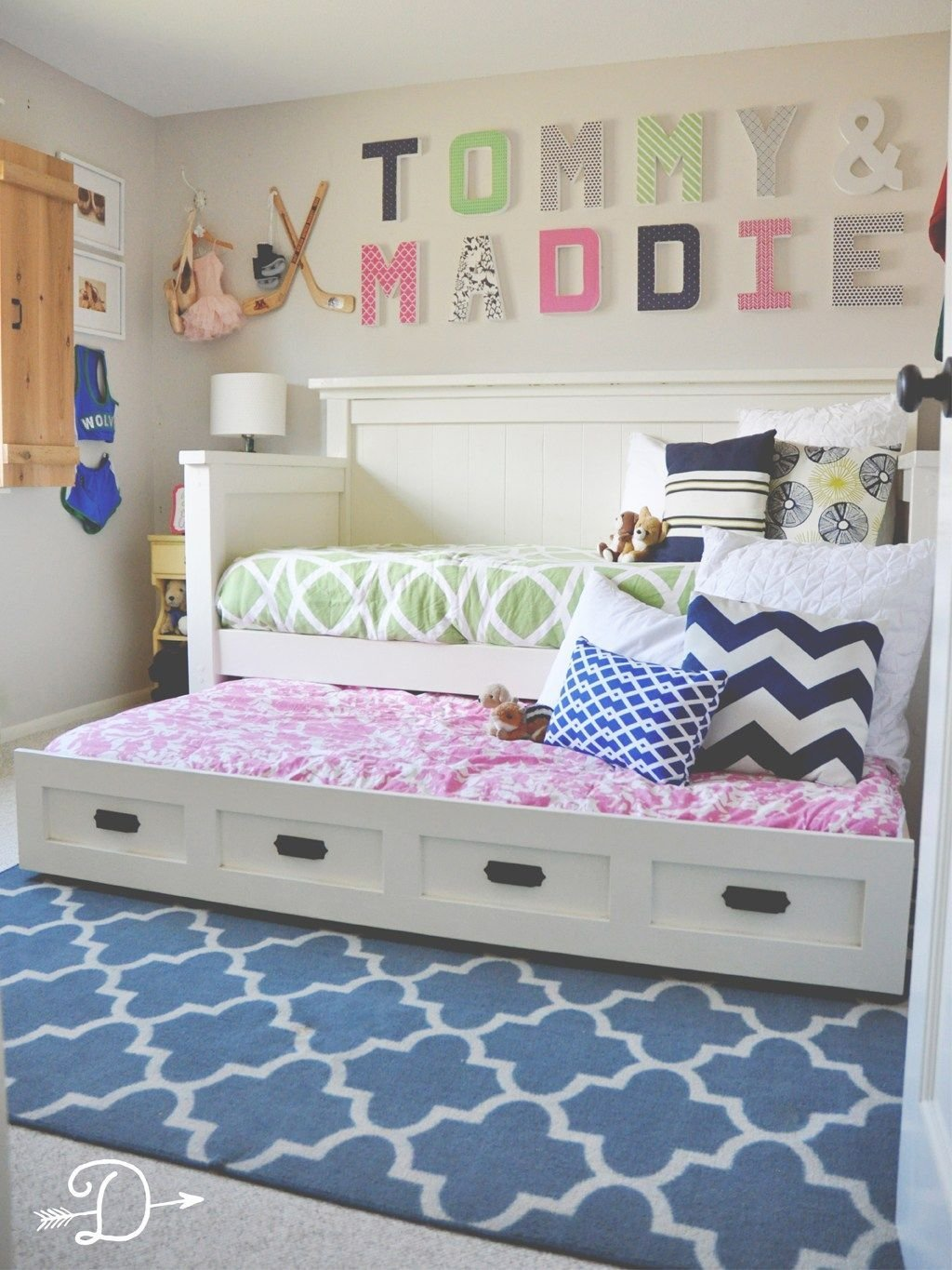 Best Boy And Girl Shared Bedroom Diy Daybed With Trundle With Pictures