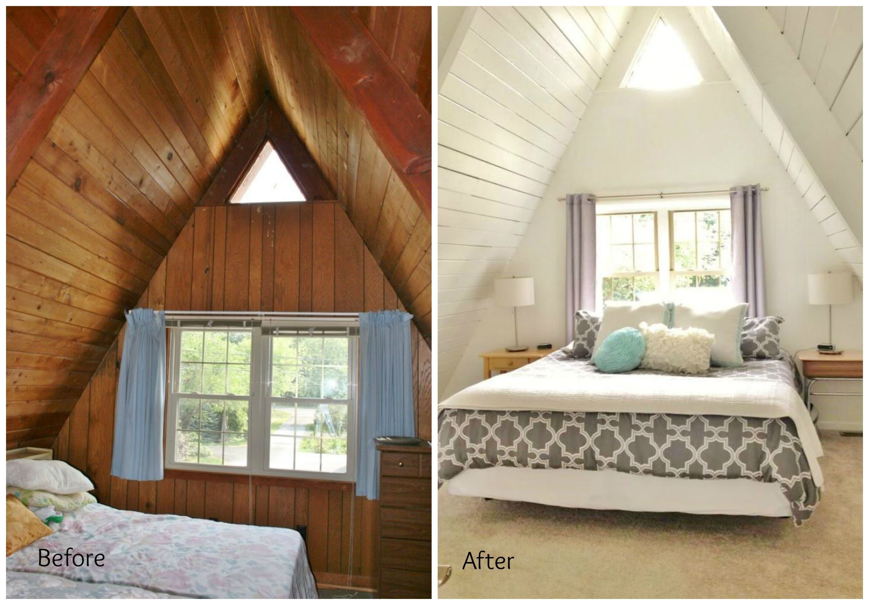 Best Before And After Upstairs A Frame Master Bedroom A Frame With Pictures