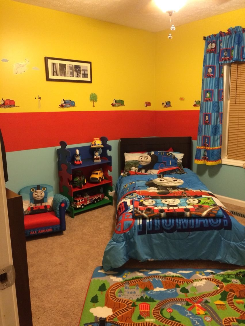 Best Thomas The Train Bedroom Created By My Brain The Sharp With Pictures