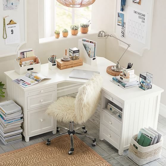 Best Beadboard Smart Drawer Cubby Corner Desk Kids Rooms With Pictures