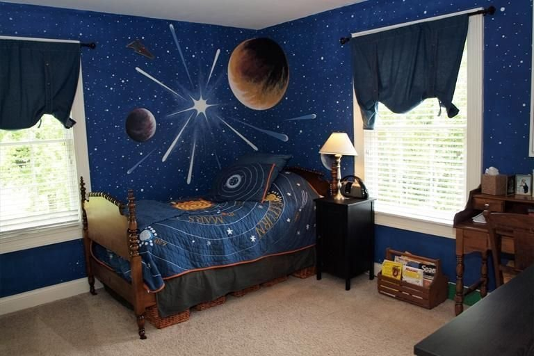 Best This Bedroom Is Out Of This World With Stars And Planets With Pictures