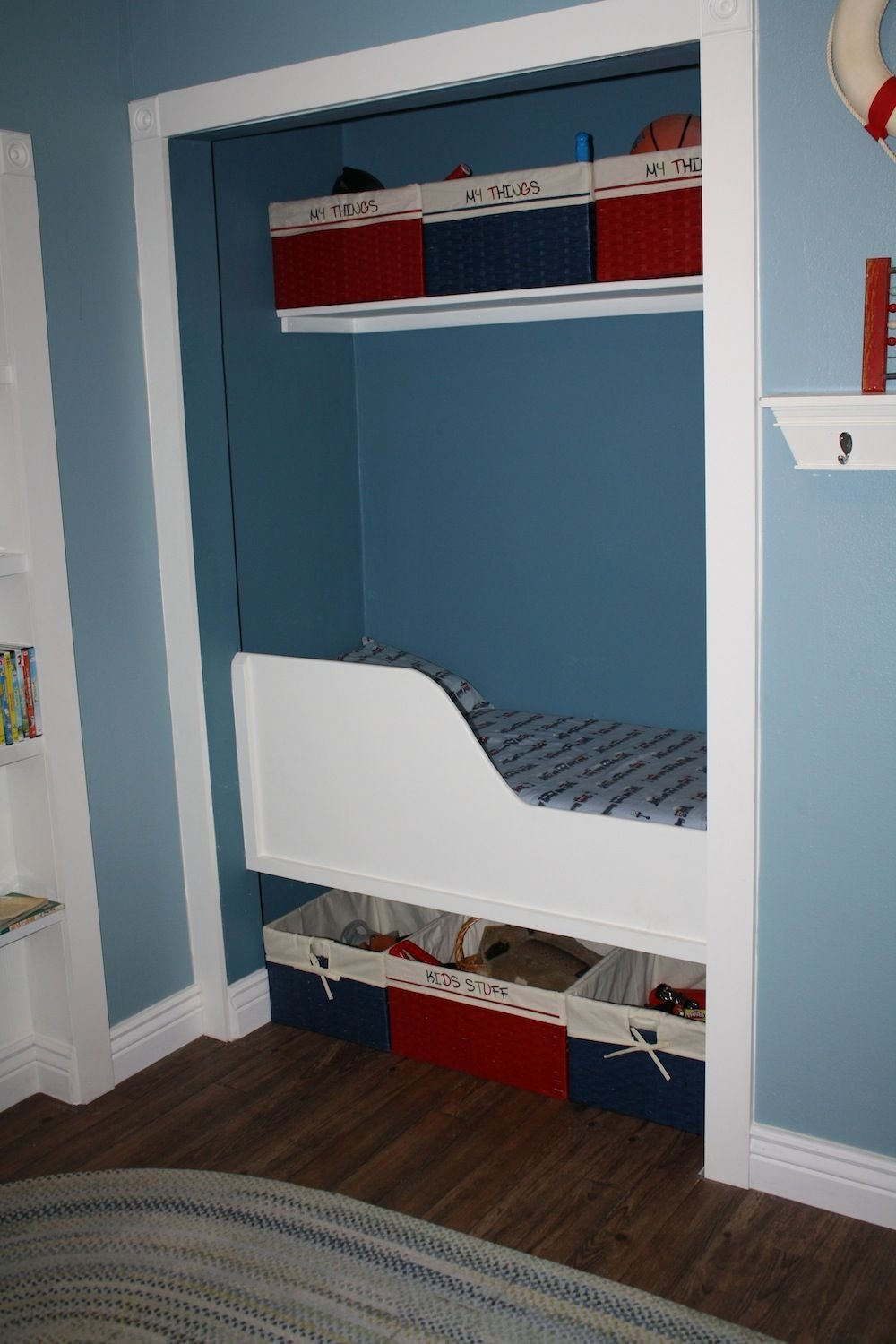 Best Bedroom Too Small For A Bed Turn A Closet Into A Built In Bed Awesome Fort For A Little Boy With Pictures
