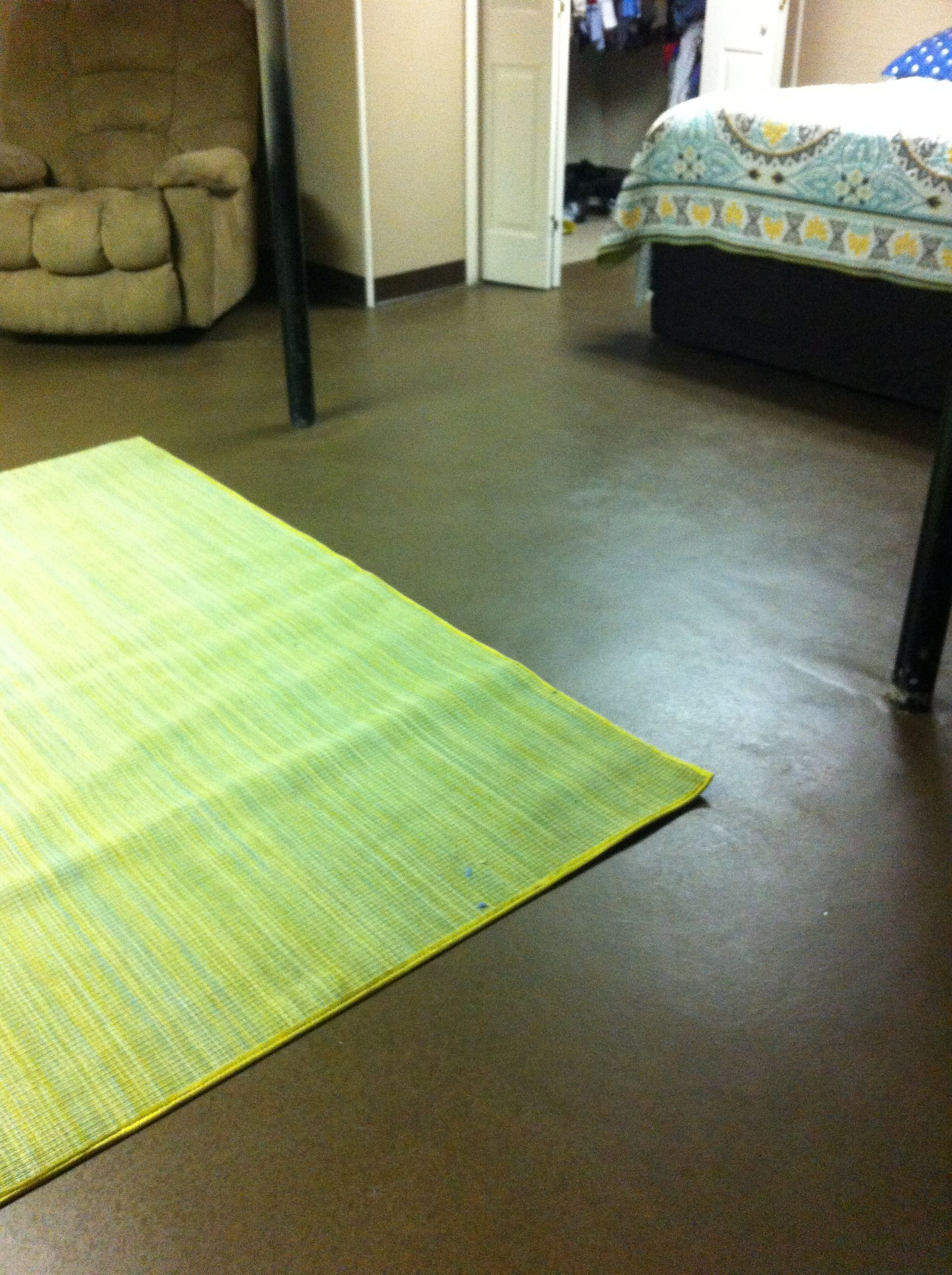 Best Painted Concrete Floors In Our Basement Bedroom Our Diy With Pictures