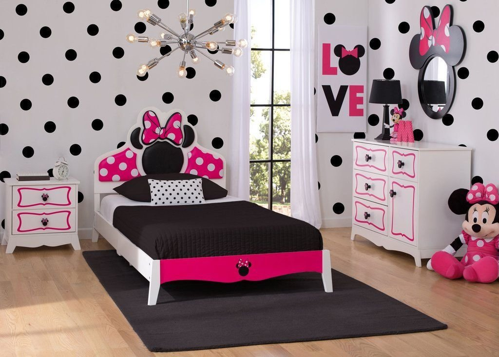 Best Minnie Mouse Wooden Twin Bedroom Collection Habitaciones With Pictures