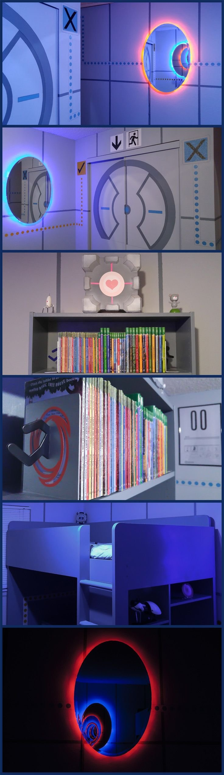 Best The Ultimate Portal Themed Bedroom Video Game Come To With Pictures
