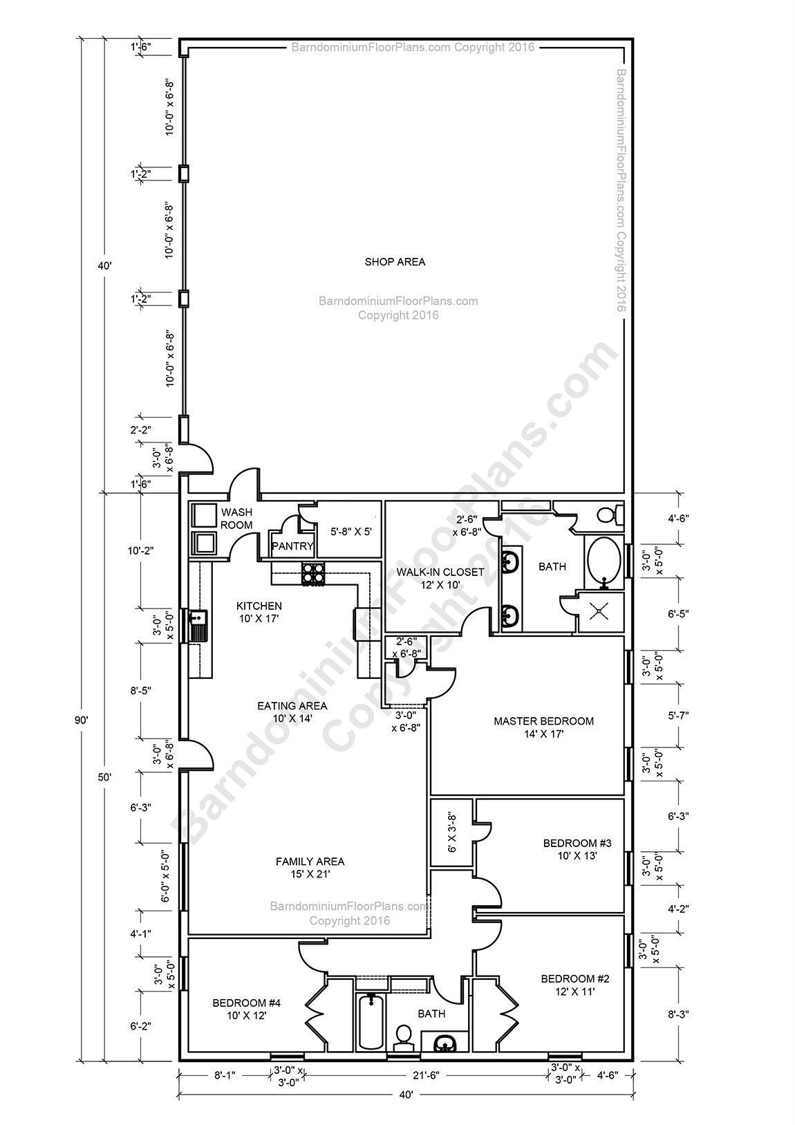 Best 25 Barndominium Floor Plans With Various Type Size With Pictures