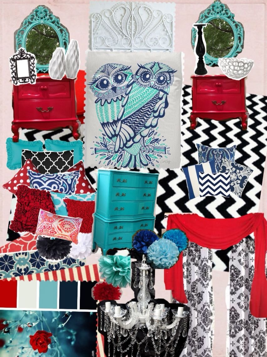 Best Aqua Teal Turquoise Navy Blue Red Black And Bedroom With Pictures