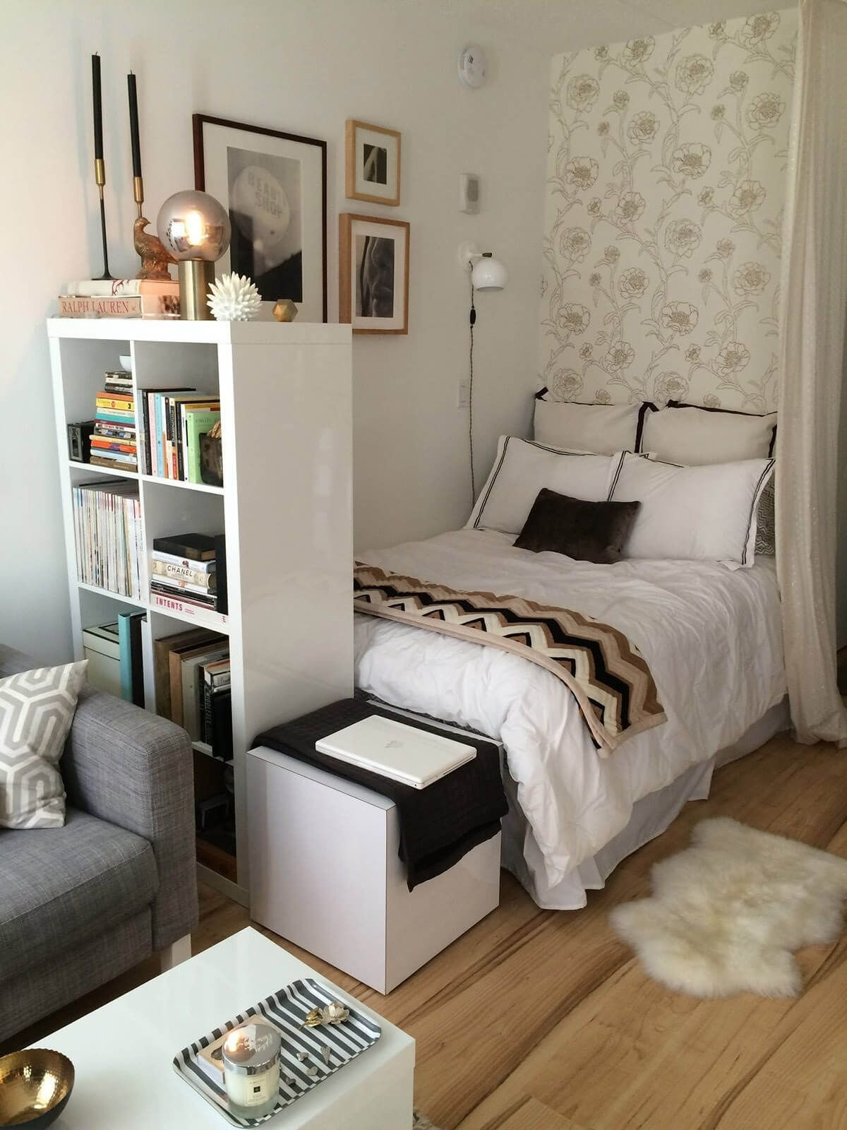 Best Small Bedroom Ideas With A Tall Bookshelf My Room In 2019 Room Decor Small Bedroom Designs With Pictures