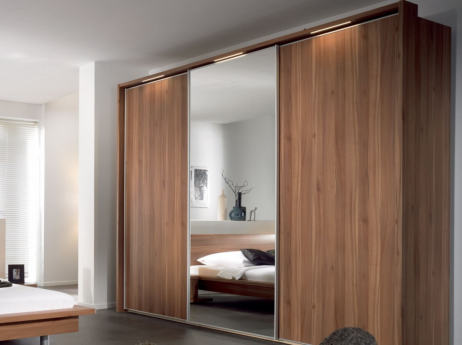 Best Furniture Sliding Wardrobe Designs With Mirror For With Pictures