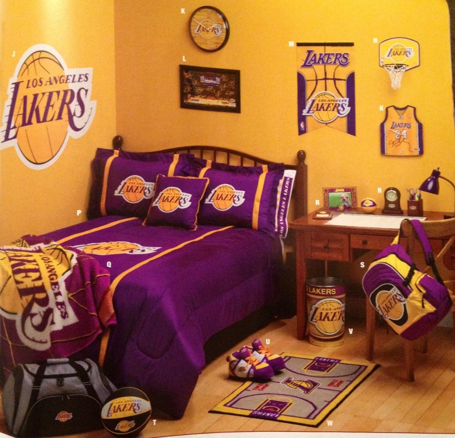 Best Another Idea For A Laker Fans Room My Love Sports Basketball Bedroom Boys Basketball With Pictures