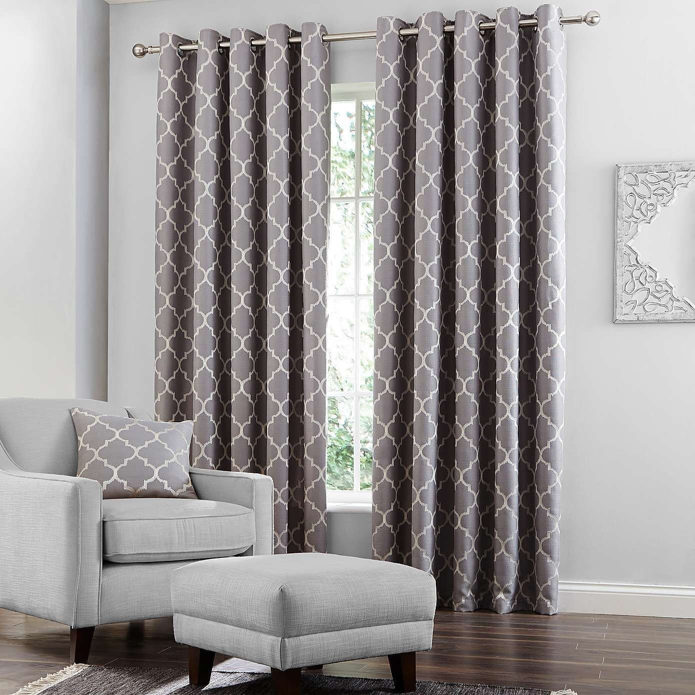 Best Grey Bali Lined Eyelet Curtains Dunelm Curtains With Pictures