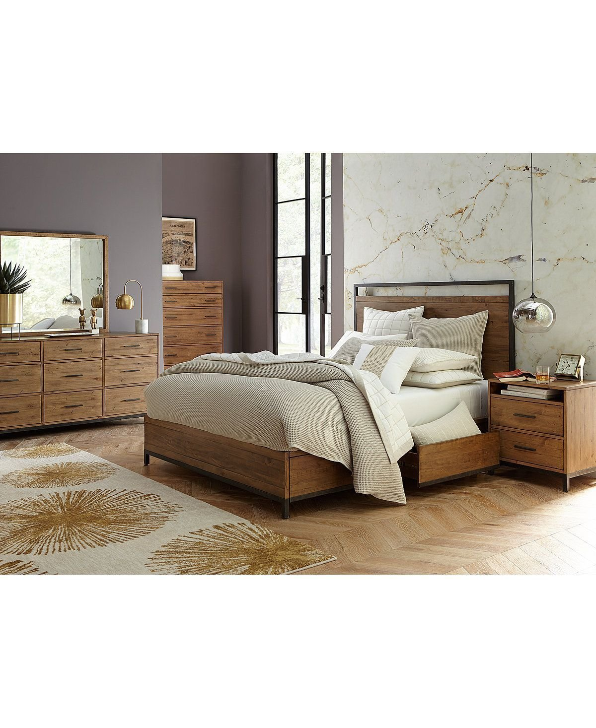 Best Gatlin Storage King Platform Bed Created For Macy S In With Pictures