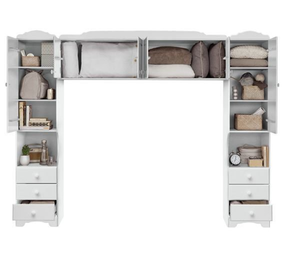 Best Buy Home Nordic Overbed Fitment White At Argos Co Uk With Pictures